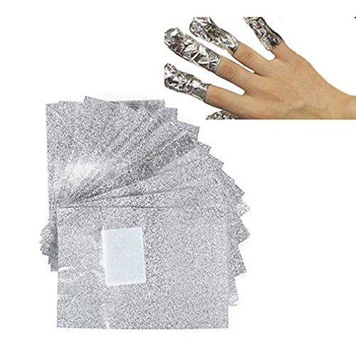Kanglo Aluminium Lot de 100?ongles gel acrylique Dissolvant Vernis (Aluminium-gelee)