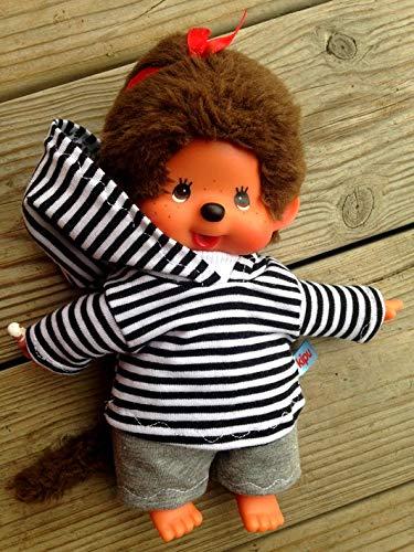 Puppenkleidung handmade für MONCHICHI Gr.20 MONCHHICHI Bekleidung Kapuzenshirt Hoodie + Hose Kleidung Puppenkleidung (Monchichi Kleidung)