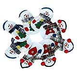 Tatis Zuhause Dekoration Weihnachtsdekoration Besteck Set Schneemann Marionette Messer Gabel Tasche süße Küche Zubehör 8 Packungen Zwei Arten Jeweils 4