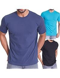 3er Pack Herren Regular Fit Rundhals T-Shirt - kurzarm - celodoro Exclusive