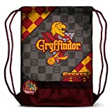 Karactermania Harry Potter Quidditch Gryffindor-Storm Drawstring Bag Sacca, 47 cm, Rosso (Red)