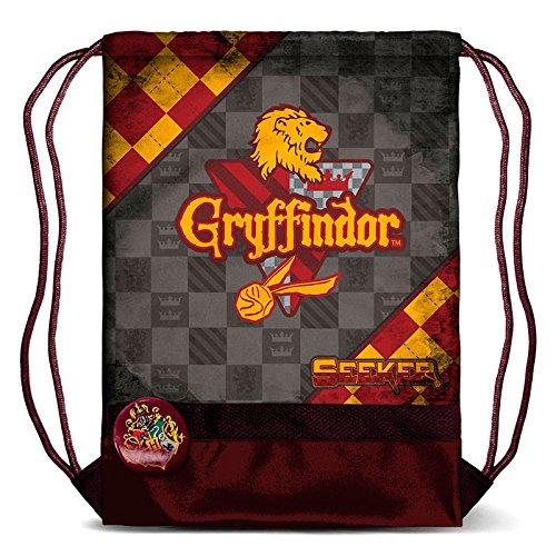 Harry Potter Quidditch Gryffindor mochila de cuerdas para el gimnasio