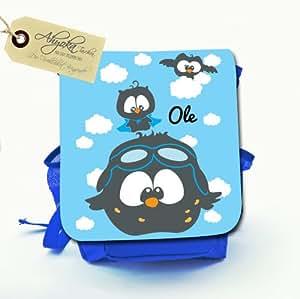 kindergartentasche kindergartenrucksack kindertasche kinderrucksack mit eulen eulentasche mit. Black Bedroom Furniture Sets. Home Design Ideas