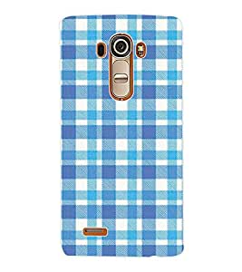 ColourCraft Blue Check Pattern Back Case Cover for LG G4
