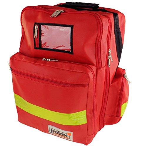 Pulox Erste Hilfe Rucksack, Notfallrucksack (Rucksack Einzeln - Rot)
