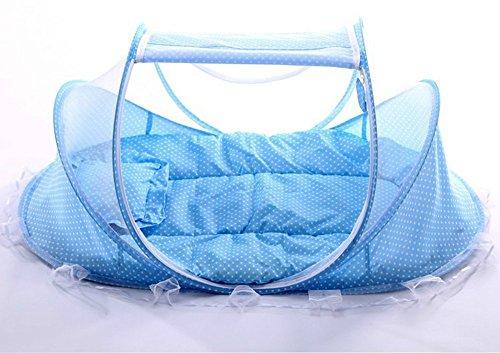 Pieghevole anti-pioggia zanzariera culla con zanzariera materasso cuscino dormire tenda letto da viaggio