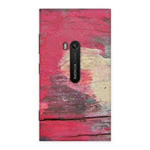 Delighted Vintage Red Yellow Print Back Case Cover for Lumia 920