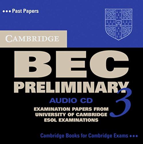 Cambridge BEC Preliminary 3. Audio CD