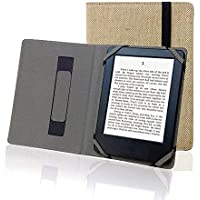 """ENJOY-UNIQUE Funda para libro electrónico de 6"""" universal de lino, cáñamo natural, para sony, kobo, tolino, pocketbook"""