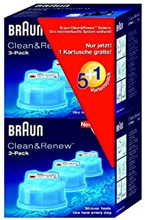 Braun Clean&Renew CCR5+1 Reinigungskartusche (6er-Pack) (B000IWDWOQ) | Amazon price tracker / tracking, Amazon price history charts, Amazon price watches, Amazon price drop alerts