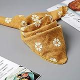 MINMINA Baby-Dreieck-Handtuch Kleine Zouju Speichel Handtuch Baumwolle Single-Layer-Baby-Dreieck Handtuch Frühling und Sommer Neugeborenen Schal, gelb
