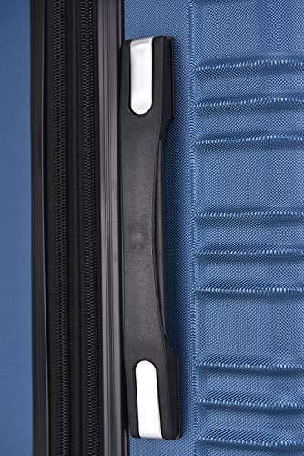 BEIBYE 2088 Zwillingsrollen Reisekoffer Koffer Trolleys Hartschale M-L-XL-Set in 13 Farben (Blau, M) - 5