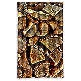 """Diseño de madera DOUBEE cortinas opacas de cenefa 132,08 cm x 213,36 cm (una sola pieza), poliuretano, E, 52""""x84"""""""