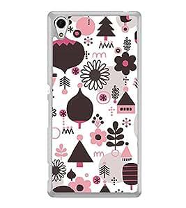 Multi Colour Flower Pattern 2D Hard Polycarbonate Designer Back Case Cover for Sony Xperia Z4