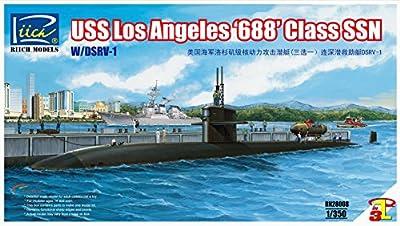 Riich Models RN28008 - Modellbausatz USS Los Angeles 688 Class SSN mit DSRV-1 von Riich Models