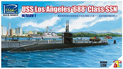 Riich Models RN28008 - Modellbausatz USS Los Angeles 688 Class SSN mit DSRV-1