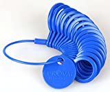 Ringmaß aus Kunststoff, Messgerät für den Durchmesser von Ringen Blau - 3