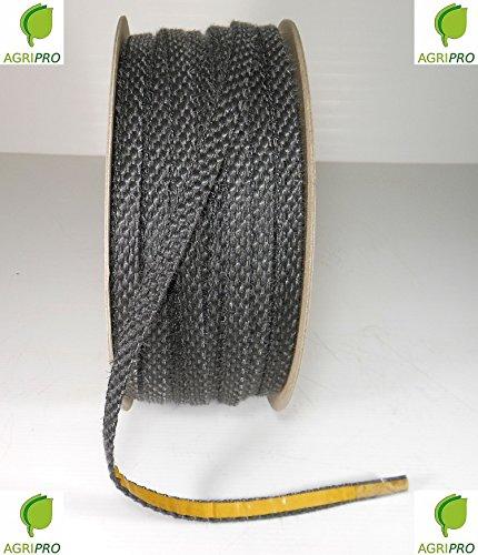 Klebende Thermodichtung für Glasscheiben von Öfen, Kaminen, Backröhren etc. - hitzebeständig bis 550° C - Maße 10 x 3 mm