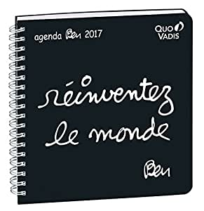 Quo Vadis - 1 Agenda Semainier 2017 Spiralé Ben Executif S 16x16 cm - Réinventez le monde