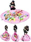 Time4Deals 60 Zoll Kinder-Spielmatte und Spielzeug Storage Bag Portable organisieren faltbare Picknick Camping Matratze-Umhängetasche (Rosa)