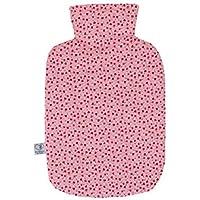 Wärmflaschenbezug Herzblumen für 2 l Wärmflasche