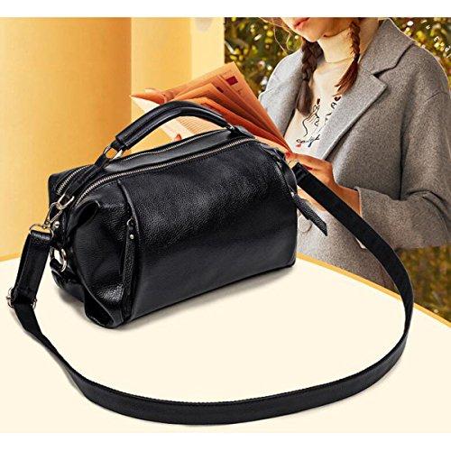 Dame Lychee Muster Art Und Weise Tendenz Schulterbeutel Diagonales Paket Handtasche Beiläufig Black