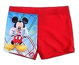 Mickey Mouse Kollektion 2018 Badeshorts 92 98 104 110 116 122 128 Jungen Sommer Badesachen Schwimmsachen Mouse (Rot, 116)
