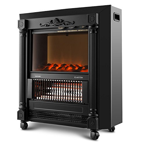 Klarstein Grenoble Freestanding fireplace Electric Black - Fireplaces (610 mm, 245 mm, 675 mm, 18 kg)