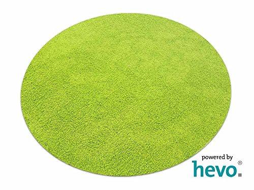 Fiji grün HEVO® Hochflor Shag Teppich | Kinderteppich 160 cm Ø Rund - Shag Teppich