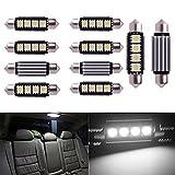 Inlink 10pcs White Error Free Festoon canbus 4SMD 5050 42mm LED Car led License Plate Light Festoon led Bulb festoon dome lamp DC 12V