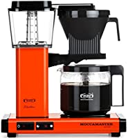 Moccamaster KBG 741 10-Cup Coffee Brewer with Glass Carafe, Orange by Technivorm Moccamaster
