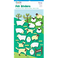 Fiesta Crafts Sheep Felt Stickers - Pack of 6