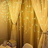 1.5 M Lichtervorhang Led Eiszapfen Licht String Fenster Vorhang Lichterketten Lichtmodelle Partydekoration Deko Schlafzimmer Warmweiß Hochzeit Party Weihnachts Dekor Warmweiß