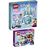 LEGO Disney 2er Set 41066 41148 Annas und Kristoffs Schlittenabenteuer + Elsas magischer Eispalast