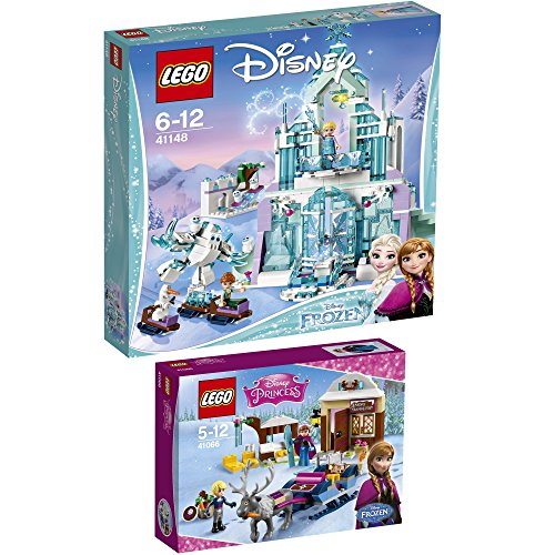 Preisvergleich Produktbild LEGO Disney 2er Set 41066 41148 Annas und Kristoffs Schlittenabenteuer + Elsas magischer Eispalast