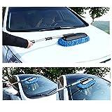Mikrofaser-Auto-Waschbürste, abnehmbarer Kopf, geeignet zum Staubwischen, als Reinigungsbürste, zum Wachsen, Wischer-Werkzeuge