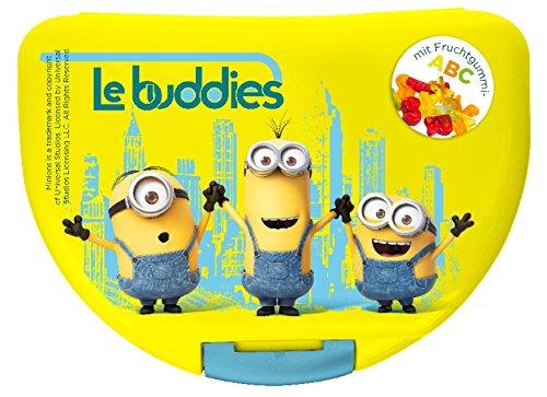 Preisvergleich Produktbild Minions Brotdose Lunchbox Movie 2015 mit Fruchtgummi Buchstaben