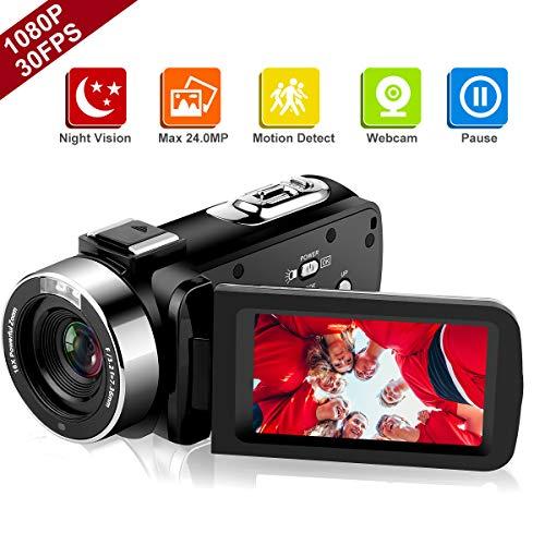 Videocamere videocamera full hd 1080p 30 fps ir night vision videocamera da 20 pollici ips schermo 16x digital zoom fotocamera digitale con telecomando