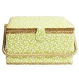 Korbond - Cesta de costura para jardín oculto, 100% algodón, color verde, tamaño extra grande