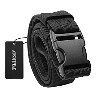 Tactical Belt, Adjustable Man's Security Utility Combat Gear Duty Nylon Belt with Quick Release Buckle 1.5 Inch Wide, Black