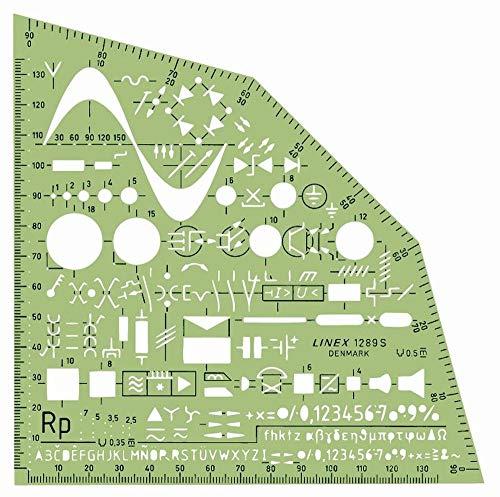 Linex 100414310 Elektrowinkel mit Tuschenoppen Zeichenschablone