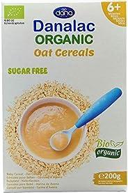 DANALAC Organic Crema di Cereali Avena 200 Grammi | Pappa Senza Zucchero 6+ Mesi (Confezione da 1)