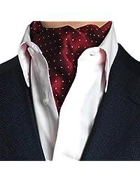 STTLZMC Corbatas para Hombre Paisley Jacquard Floral Seda Pañuelo Ascot Traje Banquete Cravat