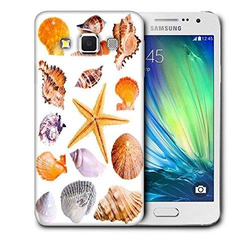 Snoogg 14Muscheln und Star Fisch Studio isoliert auf weiß Design Schutz Rückseite Schutzhülle für Samsung Galaxy A3 (Muschel-fisch-falle -)