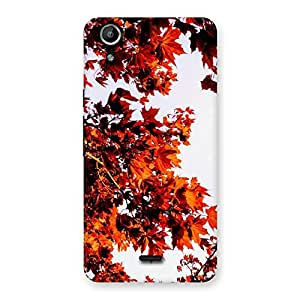 Neo World Fall Leaves Back Case Cover for Micromax Canvas Selfie Lens Q345