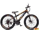 Vélo Garçon Fille Zonix VTT New Fashion 24 Pouces Shimano 21 Vitesses Noir Orange 85% Assemblé
