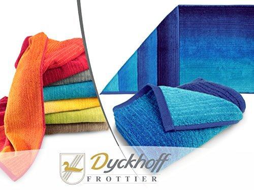 """Bio-Handtuchserie """"Colori"""" - erhältlich in 6 brillanten Farbkombinationen und 3 verschiedenen Größen – hochwertig verarbeitet und mit praktischem Kordelaufhänger, Duschtuch 70 x 140 cm, blau"""