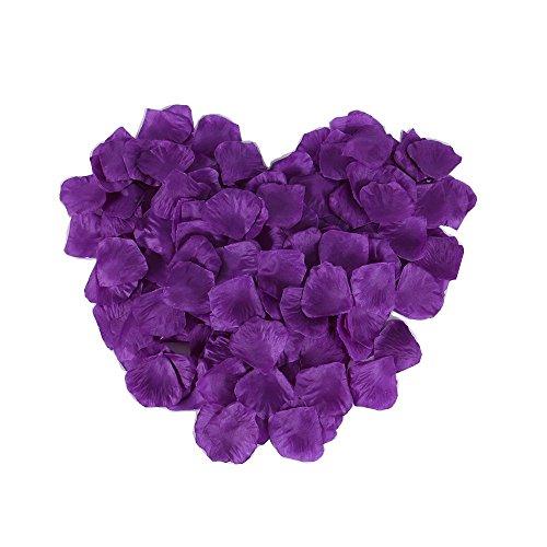 CCINEE 1000pcs JustArtificial-Fiore di seta, rosa con petali di fiori matrimonio decorazione per feste, coriandoli, motivo: Coriandoli Viola