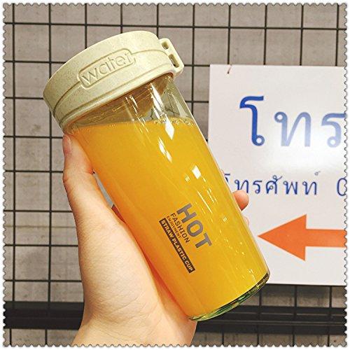 Damlonby Anti-choc facilement tasse en plastique de petit bol d'eau fraîche, jaune