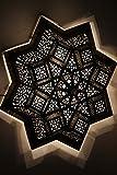 Marokkanische orientalische Orient arabische grosse Messing Lampe Hängeleuchte Leuchte Deckenlampe Messinglampe Fernaz - 80cm